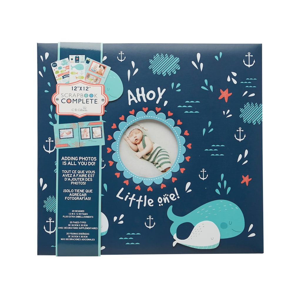 Shop For The Cr Gibson Ahoy Little One Scrapbook At Michaels