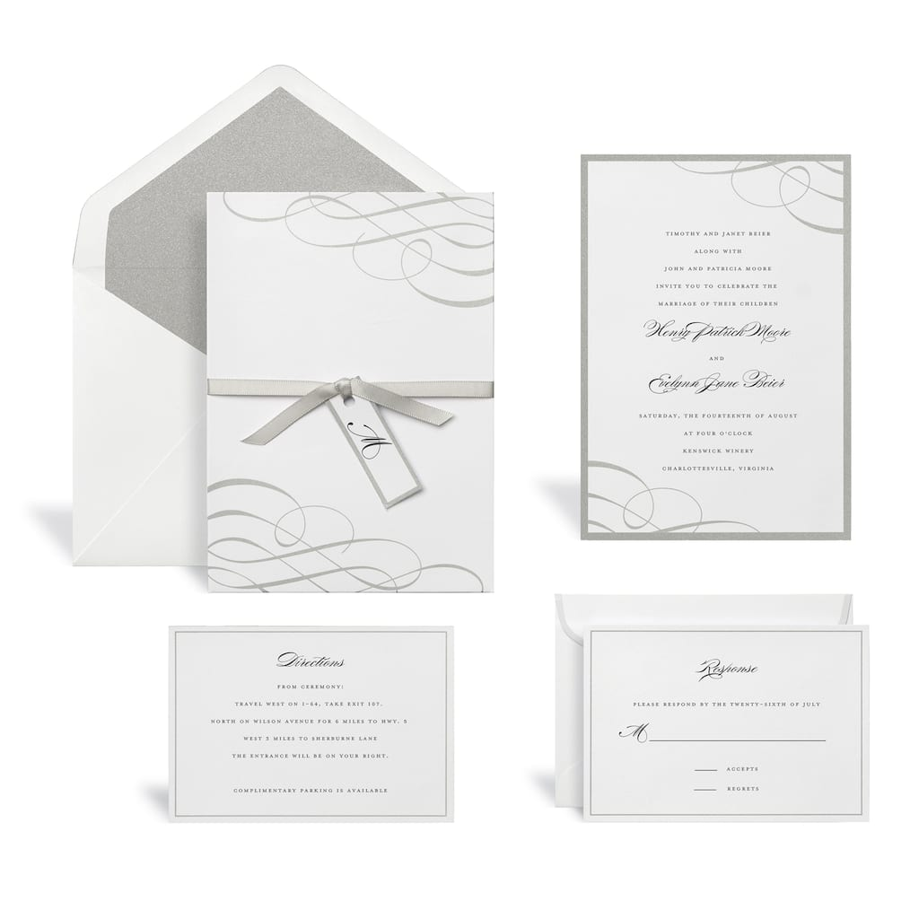 Find the Swirl Silver Wedding Invitation Kit By Celebrate It™ at ...