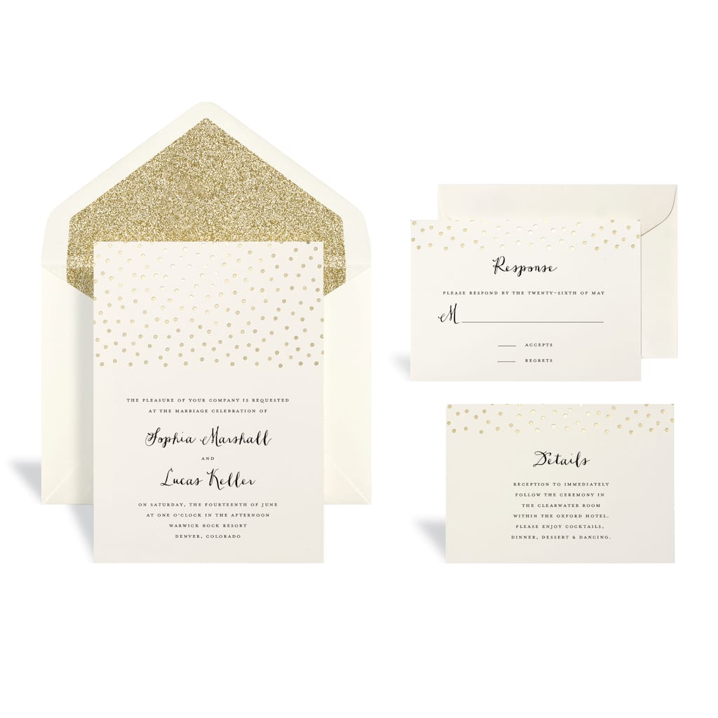 Buy the Gold Dot Wedding Invitation Kit By Celebrate It™ at Michaels