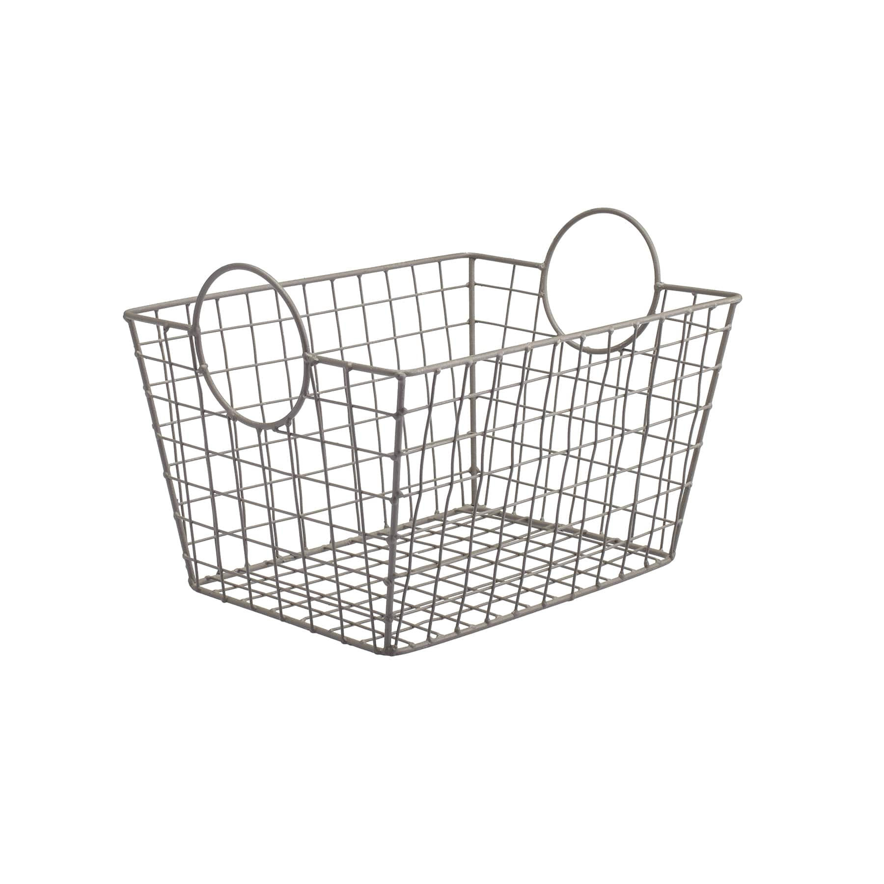 Metal Wire Tapered Storage Basket With Circle Handles by Ashland®  sc 1 st  Michaels Stores & Find the Small Khaki Rectangle Storage Basket By Ashland® at Michaels