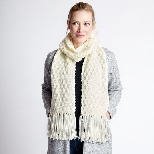 Loops Threads Impeccable Big Waffle Stitch Knit Scarf