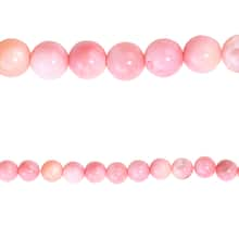 Bead Gallery 174 Round Beads Pink River Shell