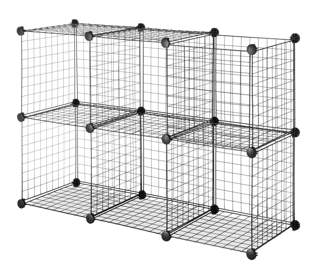 Whitmor Set of 6 Wire Storage Cubes