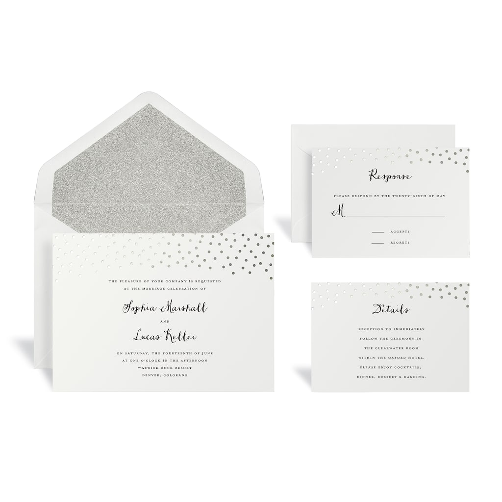 Buy the Silver Dot Wedding Invitation Kit By Celebrate It™ at Michaels