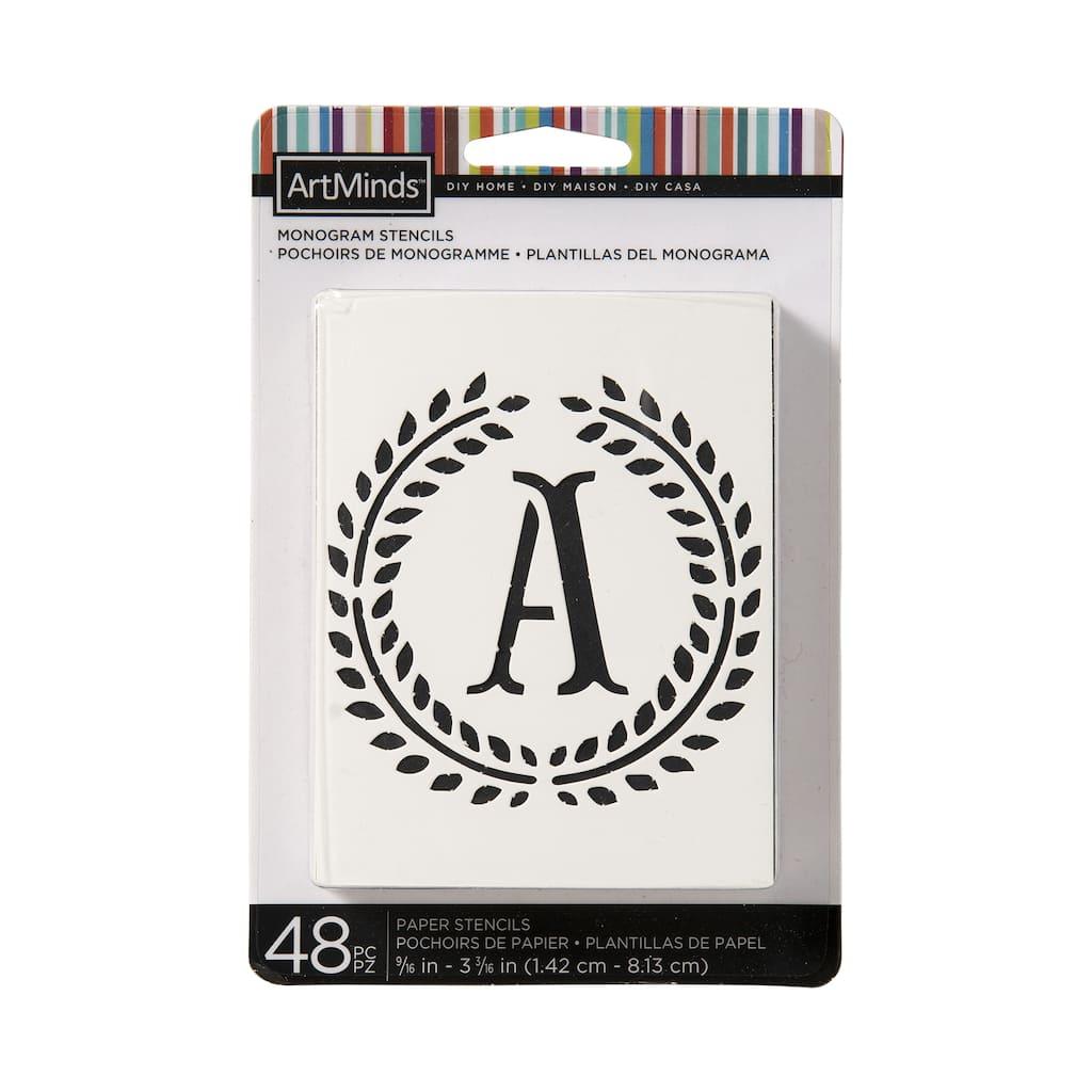 Shop for the DIY Home Laurel Monogram Alphabet Stencils By ArtMinds ...