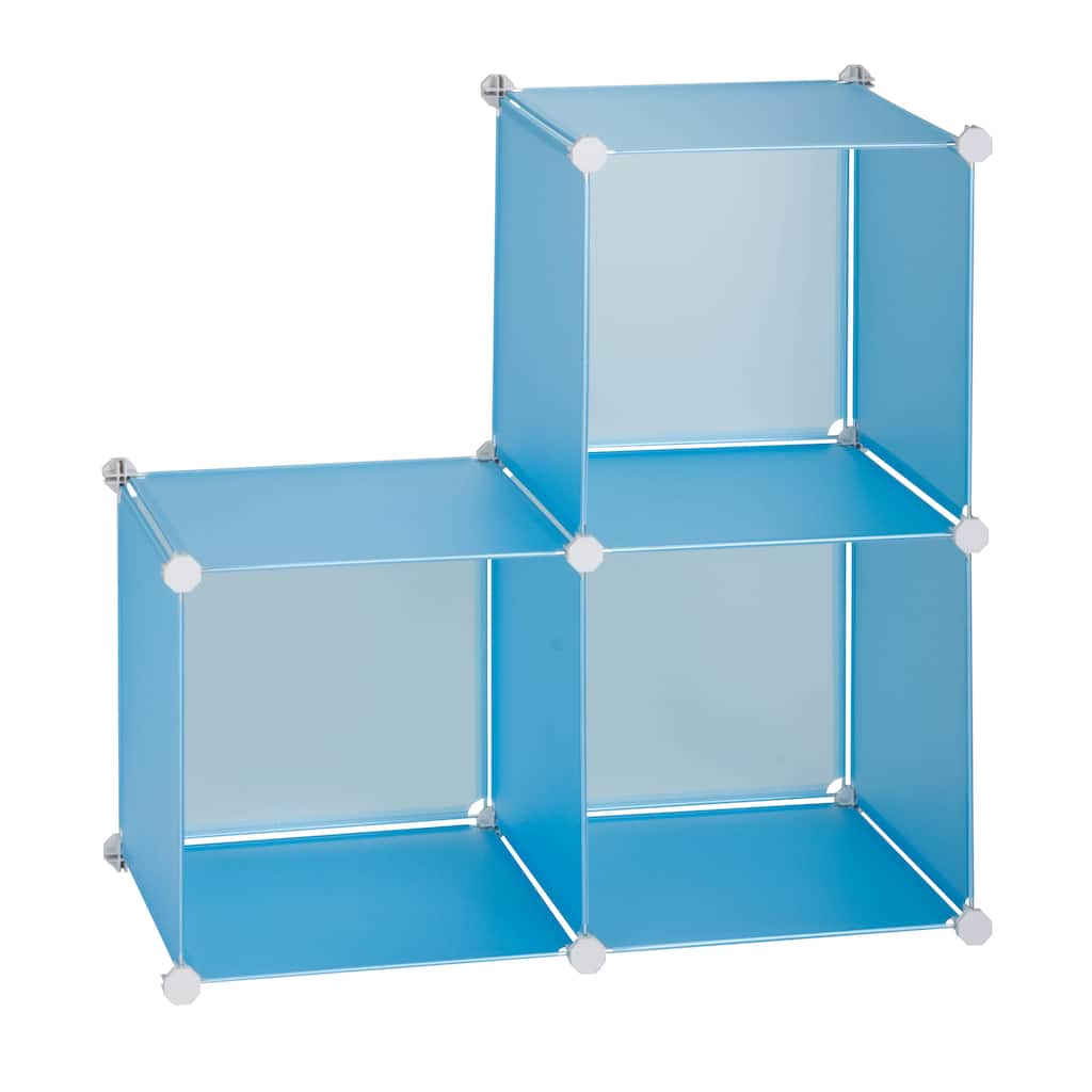 Honey Can Do Blue Storage Cubes, 3-Pack
