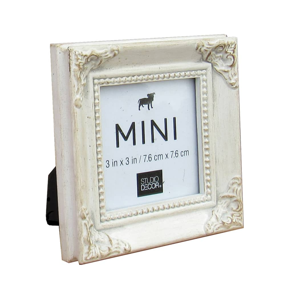 Find the White Leaf Mini Frame with Corner Accents by Studio Décor ...
