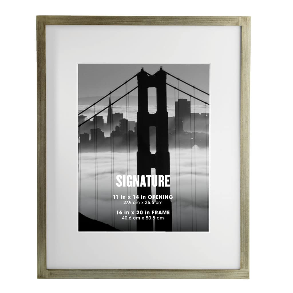Buy the Silver Signature Frame with Mat by Aaron Brothers at Michaels