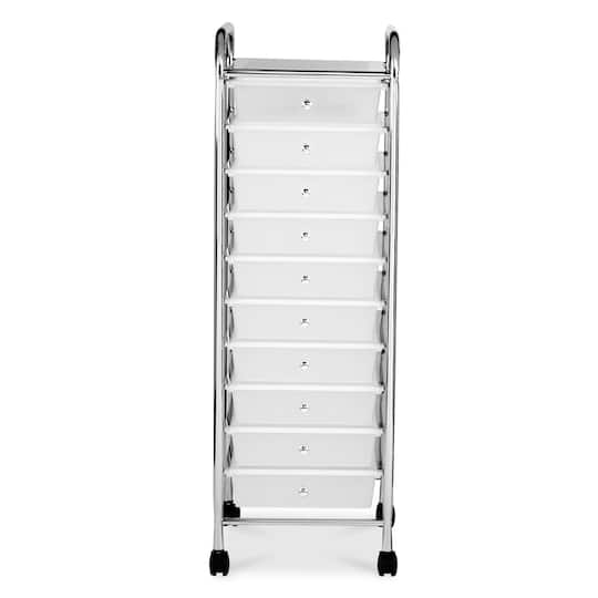 10 Drawer Rolling Cart By Recollections