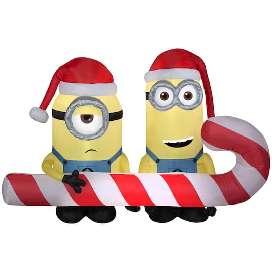 4Ft Airblown� Inflatable Christmas Minions Scene By Gemmy Industries | Michaels�