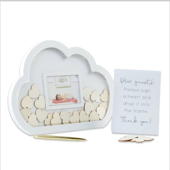Kate Aspen Baby Shower Cloud Frame Guest Book Alternative Michaels