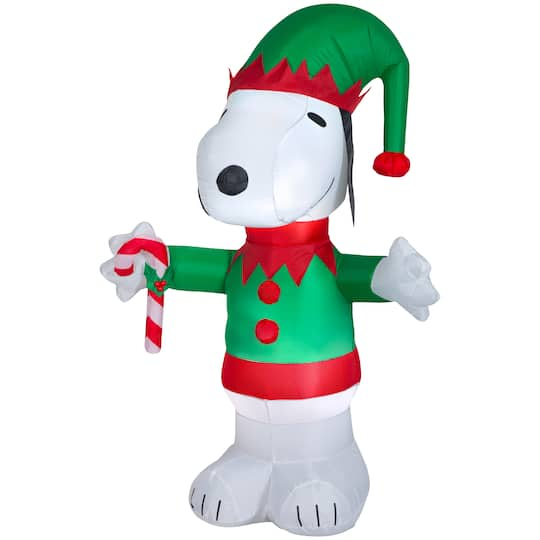 5Ft Airblown� Inflatable Christmas Snoopy Elf By Gemmy Industries | Michaels�