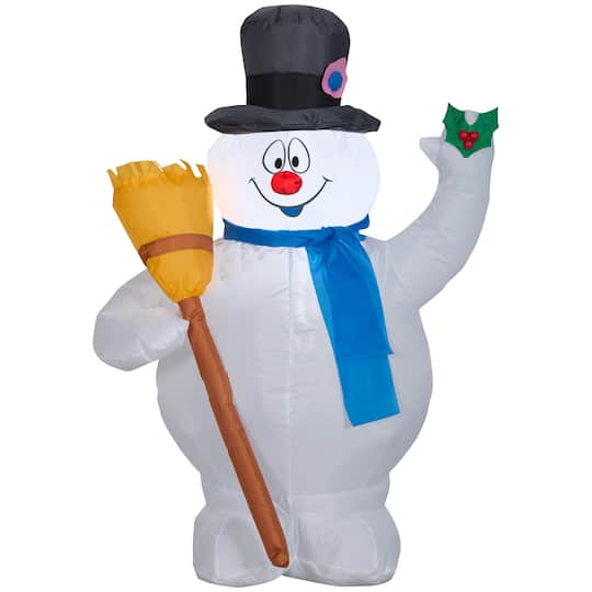 3.5Ft Airblown� Inflatable Frosty With Broom By Gemmy Industries | Michaels�