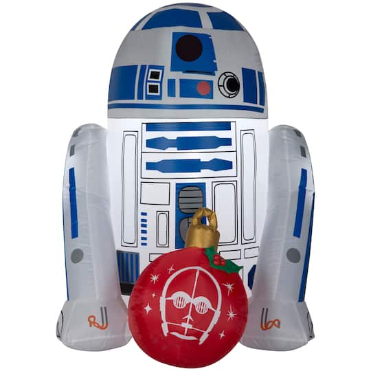 3Ft Airblown� Inflatable Star Wars R2-D2 With Ornament By Gemmy Industries | Michaels�
