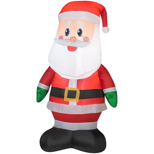 4Ft Airblown� Inflatable Christmas Santa By Gemmy Industries | Michaels�