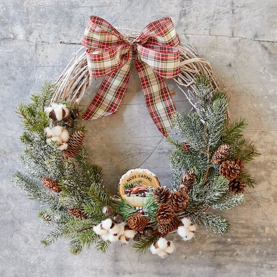 Rustic Christmas Wreath Diy.Easy Noel Farms Christmas Wreath