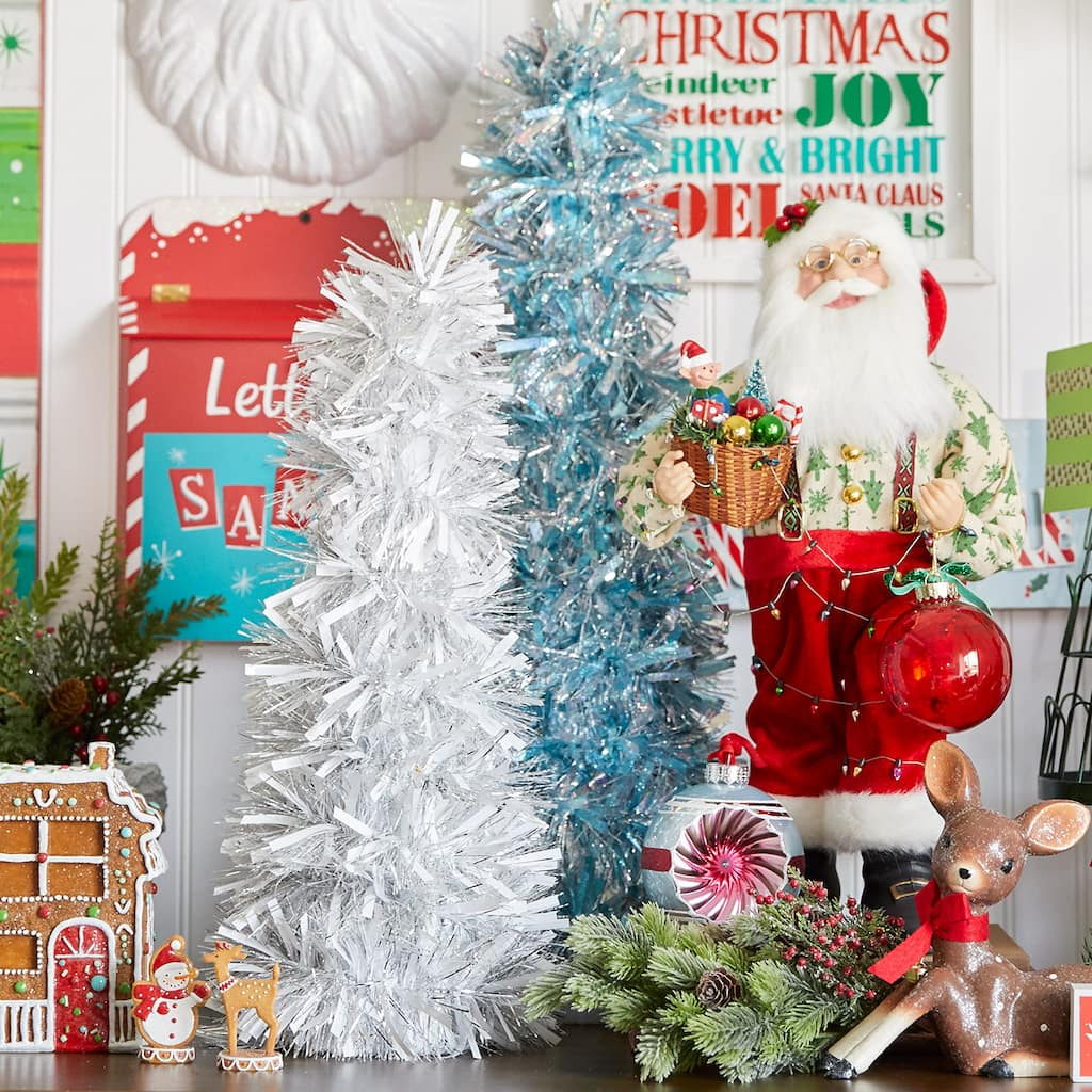 Christmas Tree Facebook Cover Photo: Merry Memories Tinsel Christmas Trees