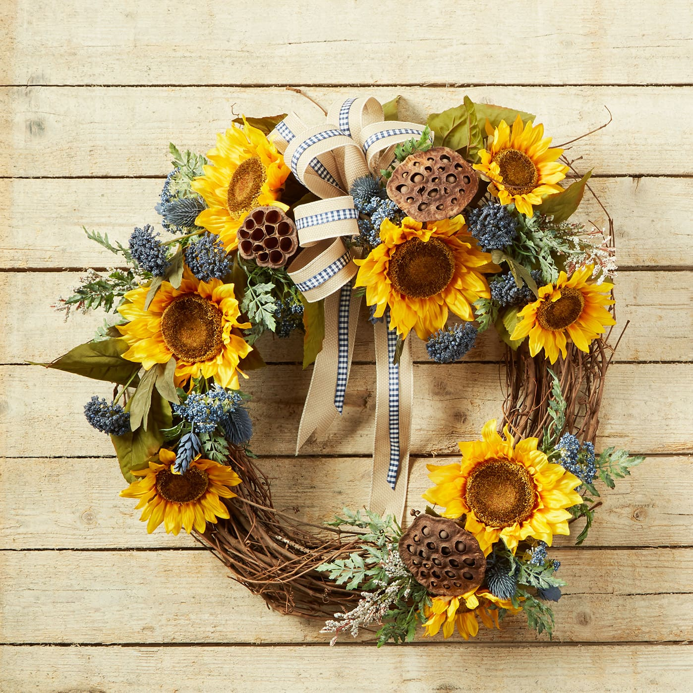 Summer To Fall Sunflower Transitional Wreath