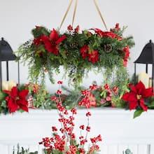Christmas Wreath Chandelier, medium