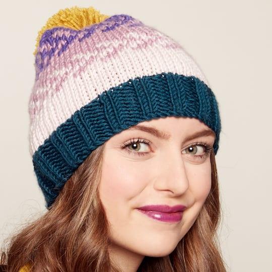7367c181235 Caron® x Pantone™ Easy Knit Fair Isle Hat