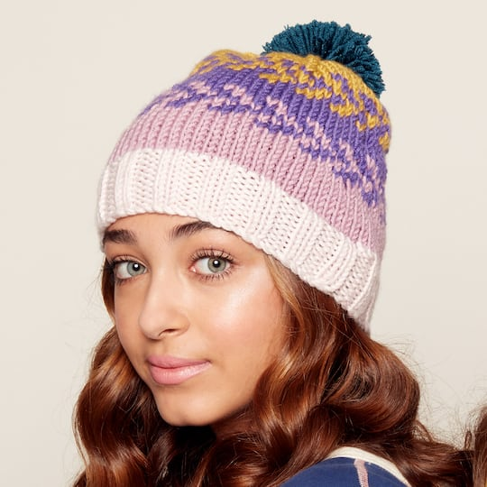 2e9865dbb18 Caron® x Pantone™ Easy Knit Fair Isle Hat