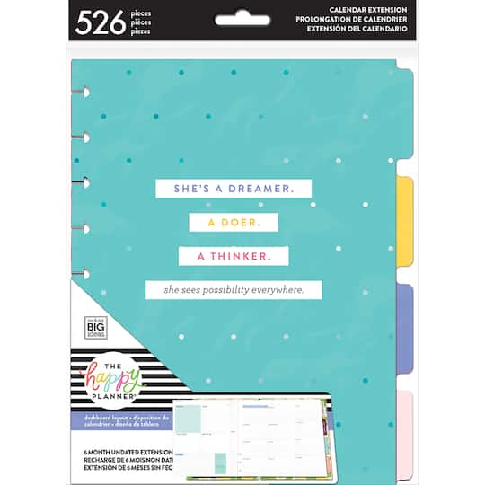 Create 365® The Classic Happy Planner® Six Month Extension Pack, Weekly
