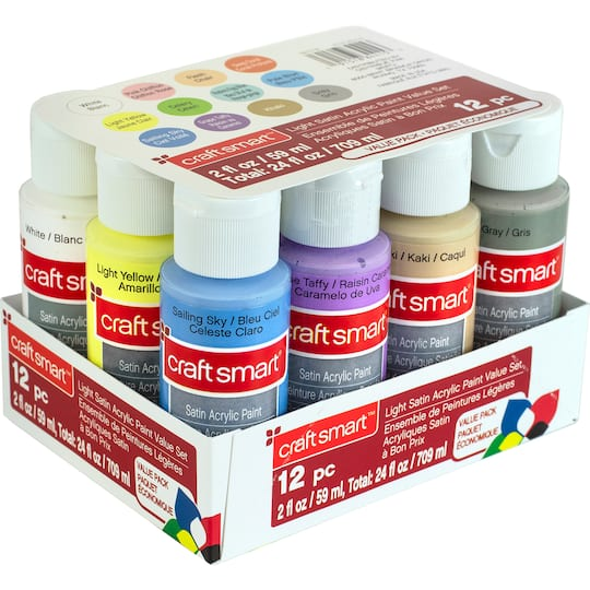 Light Satin Acrylic Paint Value Set By Craft Smart