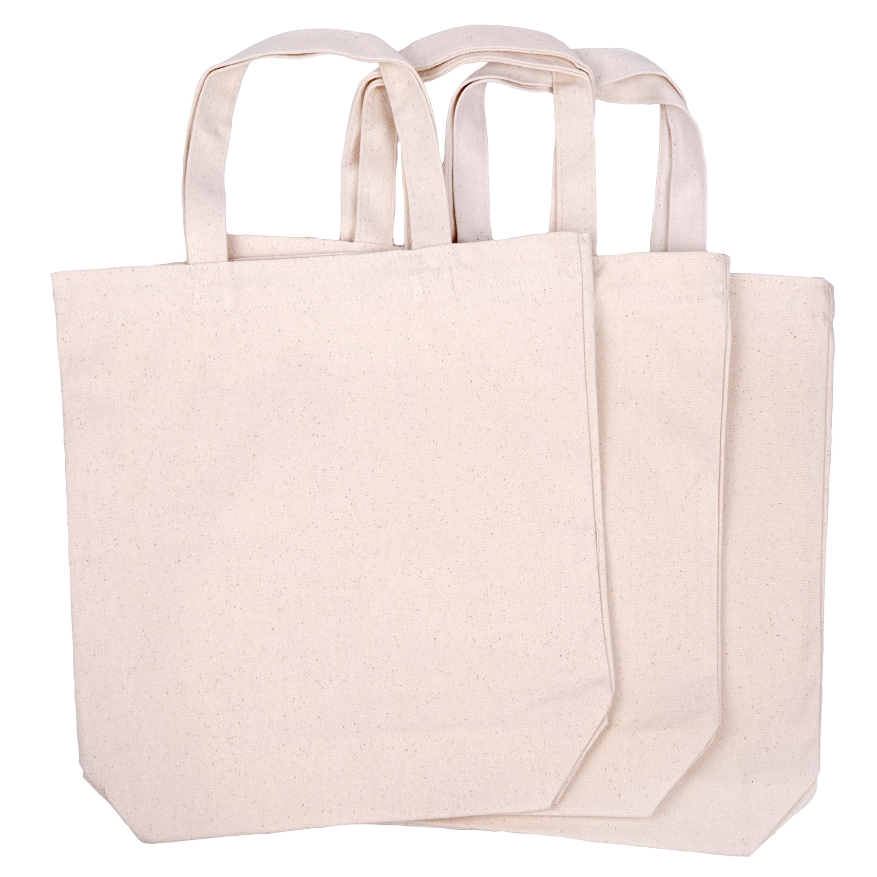 Natural Ink Craft Bulk Cotton Canvas Tote Bags Reusable Grocery Shopping Blank Tote Bags in Bulk Blank Art Craft Party Blank Goods Bags Wholesale Tote Bags 25 Ivory,