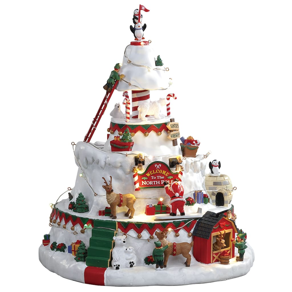 lemax north pole tower img - Christmas Village Sets Michaels