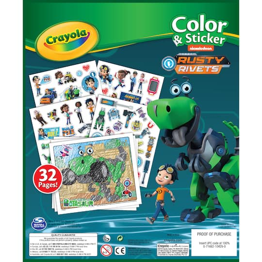 Rusty Rivets Coloring Pages: Buy The Crayola® Color & Sticker, Nickelodeon Rusty Rivets