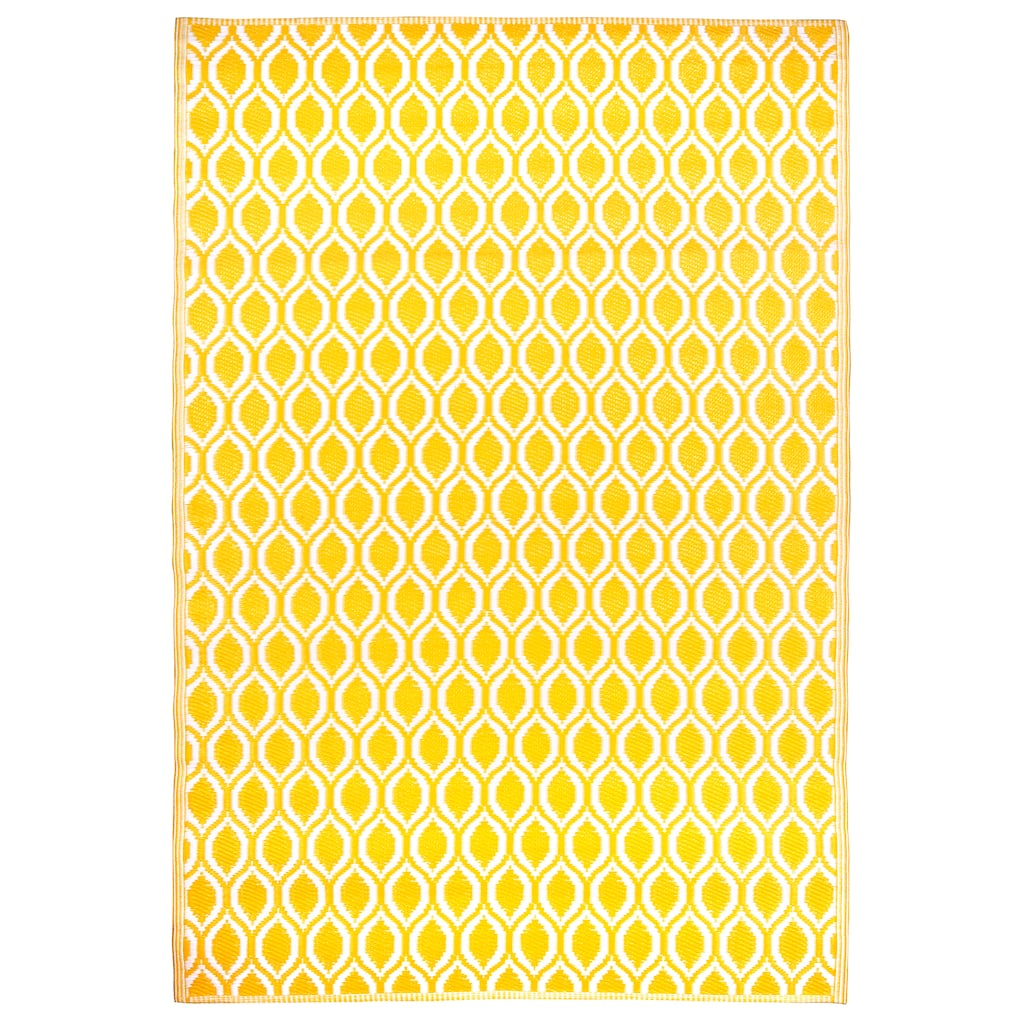 4ft  x 6ft  Yellow Geometric Outdoor Rug by Ashland™