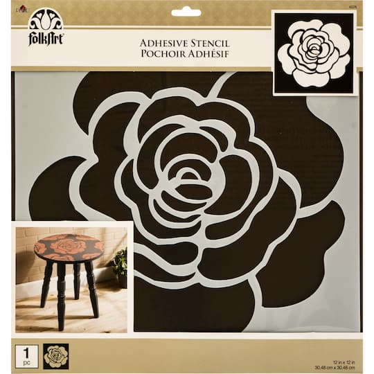 Buy the folkart rose adhesive stencil at michaels for Rose adesive