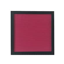 fuchsia felt letter board with 10 x 10 black frame by artminds