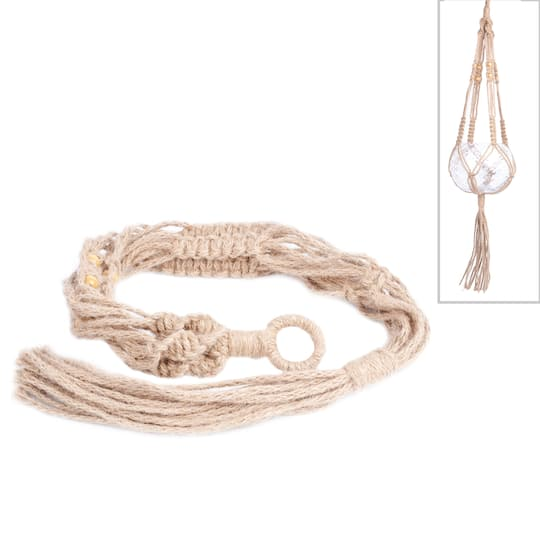 Find The Long Jute Macrame Plant Hanger By Ashland At Michaels