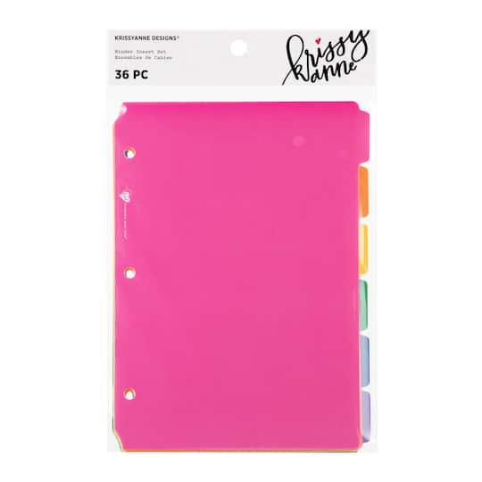 Buy The Krissyanne Designs® Binder Insert Tabs, Rainbow At