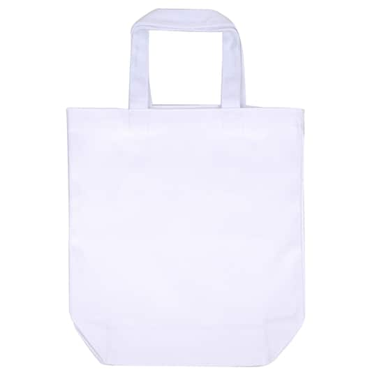 White Canvas Tote Bag By Imagin8