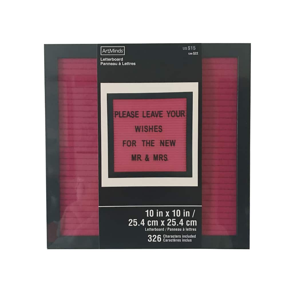 Shop For The Fuchsia Felt Letter Board With 10 X 10 Black Frame By