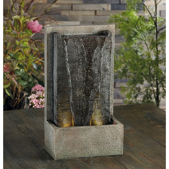 Find The 18 8 Quot Water Wall Led Fountain By Ashland At Michaels