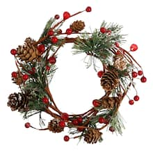 5ft red berry with pinecones coiled garland by ashland - Michaels Christmas Garland