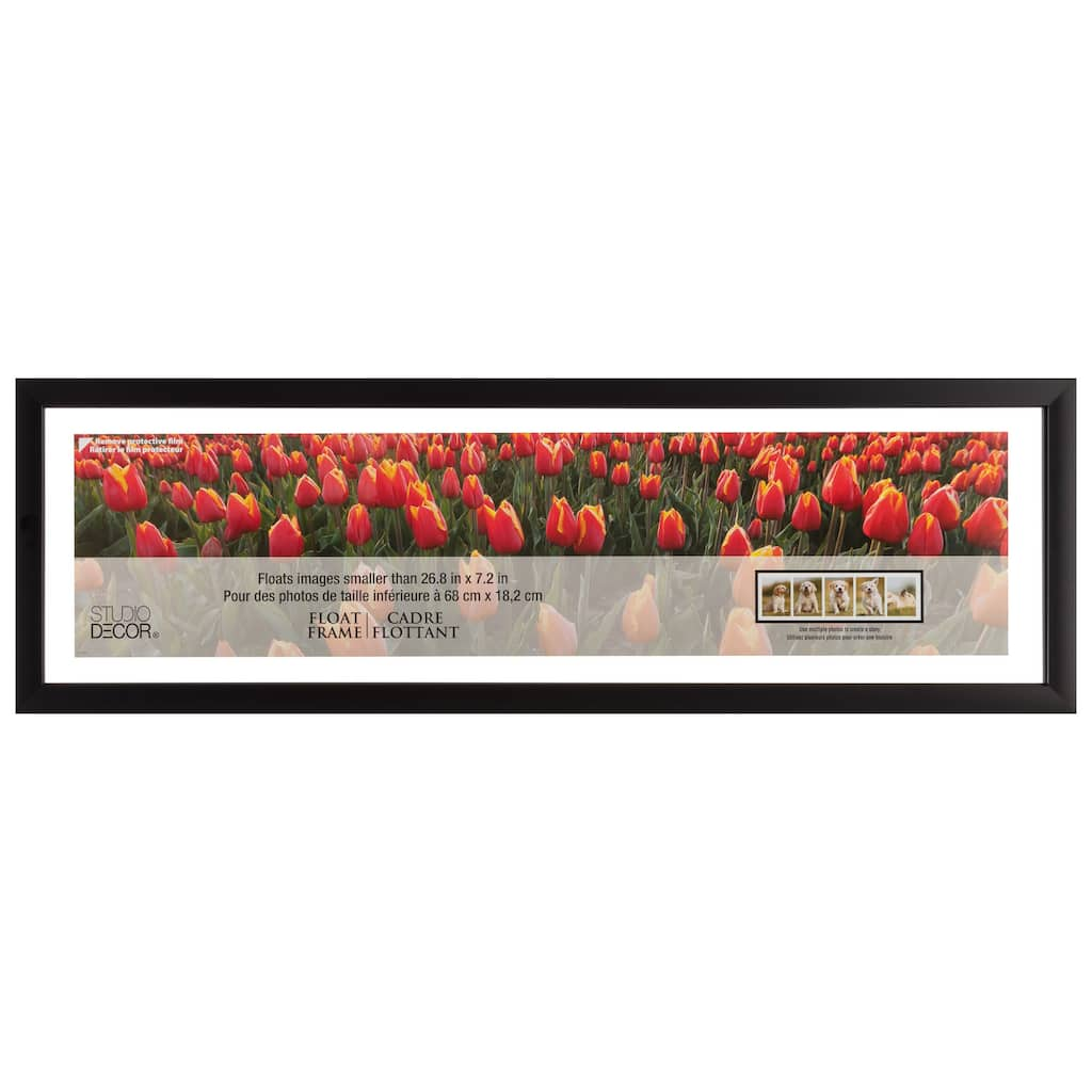 Find The Black Panoramic Float Frame With Mat By Studio