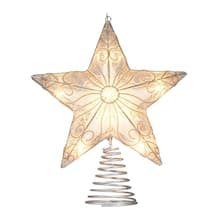 11 silver star tree topper by ashland
