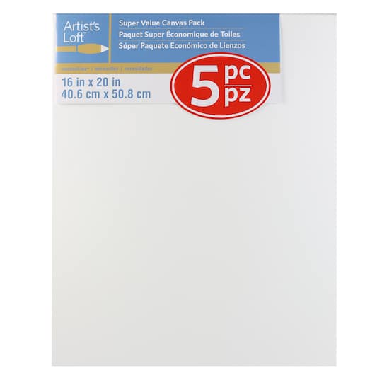 ARTISTS LOFT  CANVAS 10X20 PACK OF 6