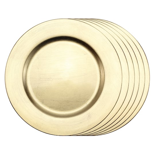 This Placesetting Is To Die Gold Charger Champagne: Shop For The 6 Count Gold Charger Set By Ashland® At Michaels