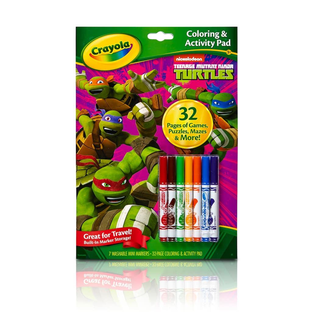 Find the Crayola® Coloring & Activity Pad, Teenage Mutant Ninja ...