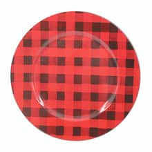red black plaid charger by ashland