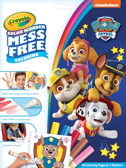 Find the Crayola® Color Wonder™ Paw Patrol® Papers & Markers at Michaels