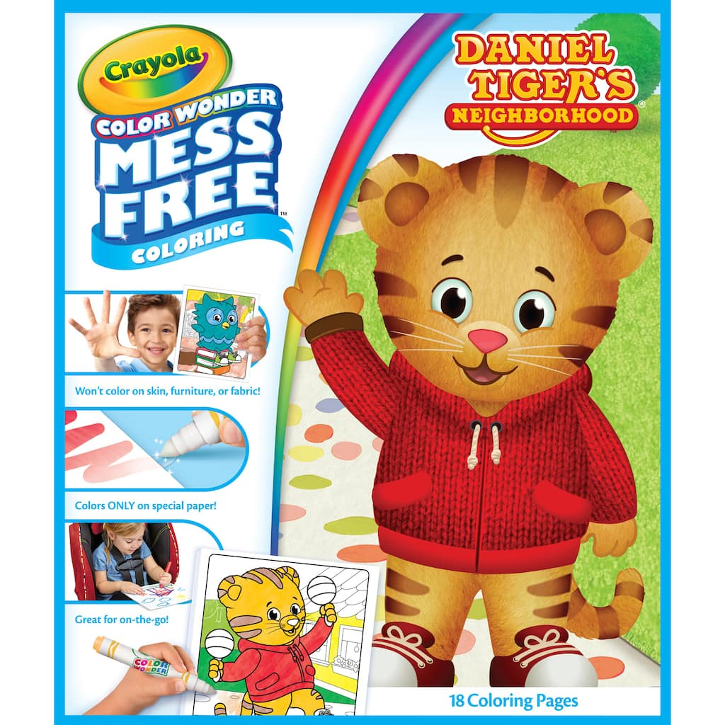 Buy The Crayola Color Wonder Mess Free Refill Book Daniel Tiger S Neighborhood At Michaels
