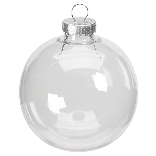 3 Clear Plastic Ball Ornament By Artminds