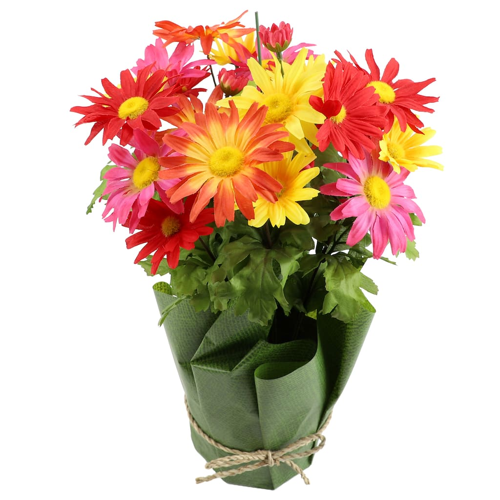 Shop For The Mixed Yellow Orange And Pink Potted Daisy By Ashland