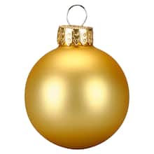 10ct Matte Gold Gl Ornaments By Ashland